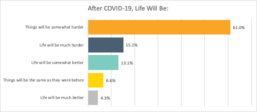 Family expectation of life after the COVID-19 crisis